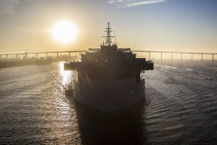 "USNS Hershel ""Woody"" Williams, designed and built by General Dynamics NASSCO, completes sea trials and is delivered to the U.S. Navy"