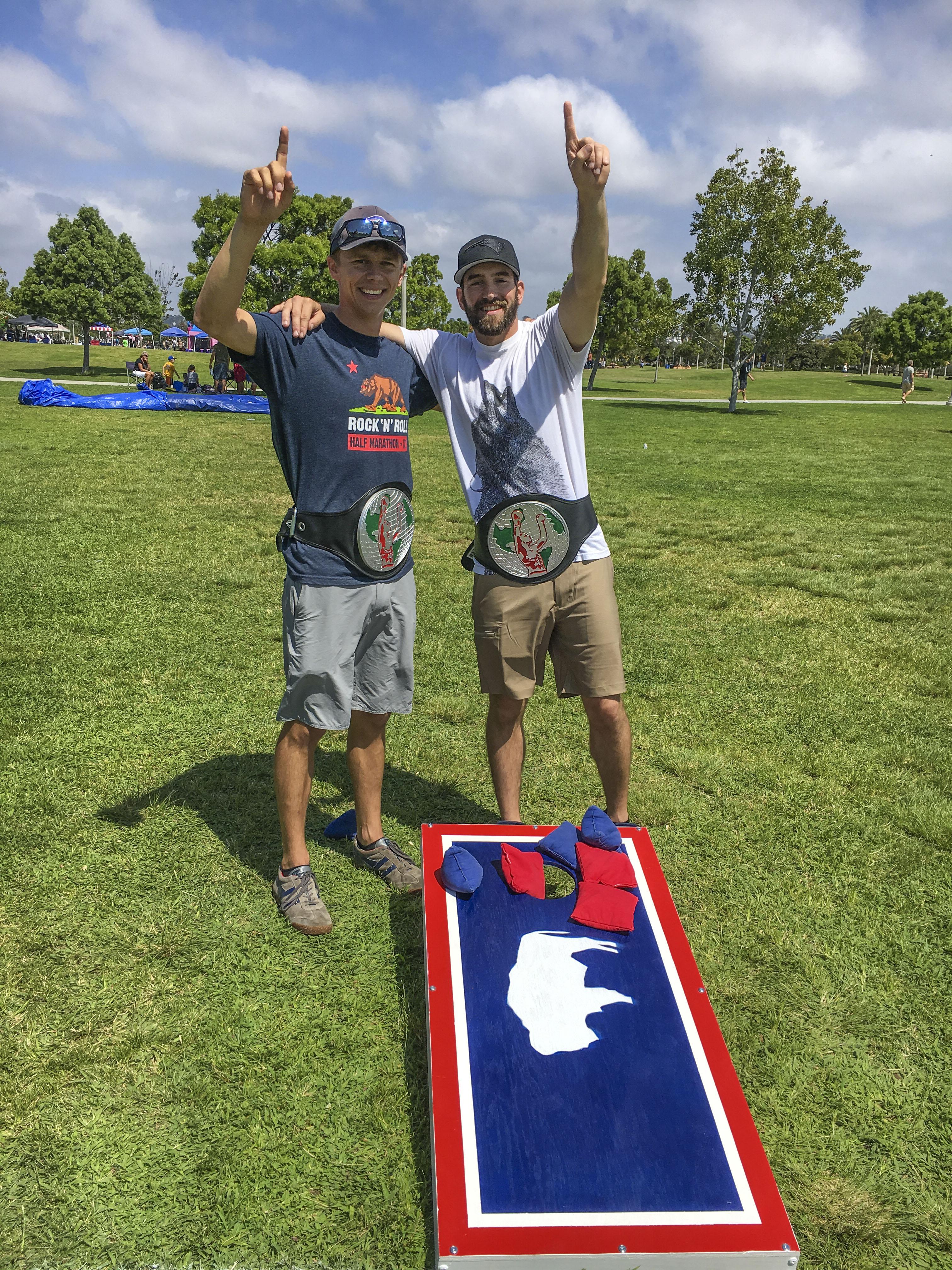 SIGNs Cornhole 2017 Winners - Mark Holmes and Trent Hellman