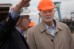 NASSCO President Fred Harris and Senator John Glenn