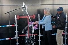USNS John Glenn Christening Ceremony - Lyn Glenn Christens the Ship