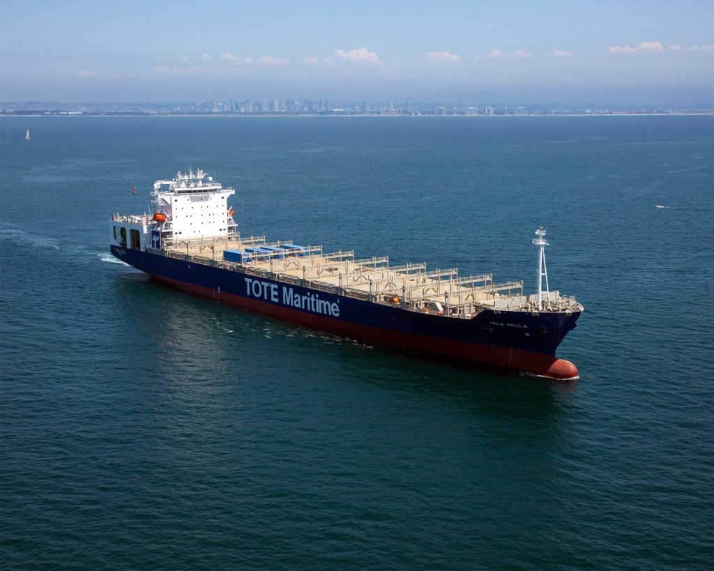 Isla Bella - the world's first LNG-powered containership
