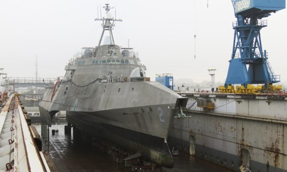 LCS 2 Independence in NASSCO Dry Dock