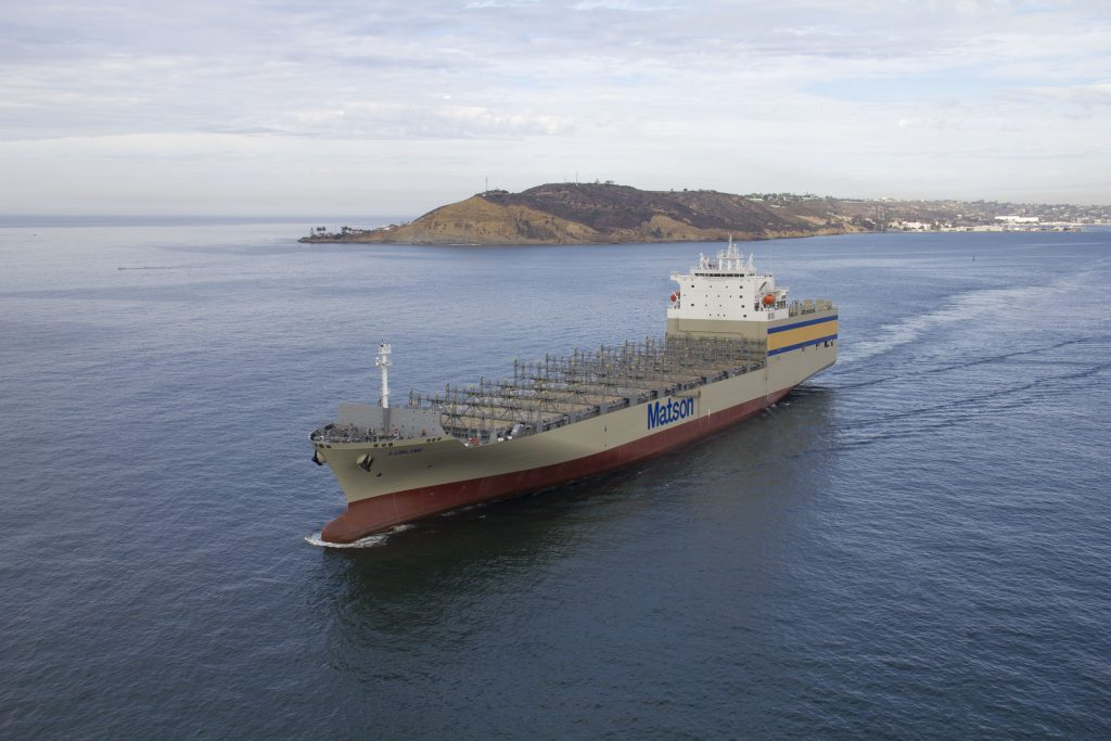 November 19, 2019 – Lurline, Lead Ship of Matson Kanaloa Class, on Sea Trials.