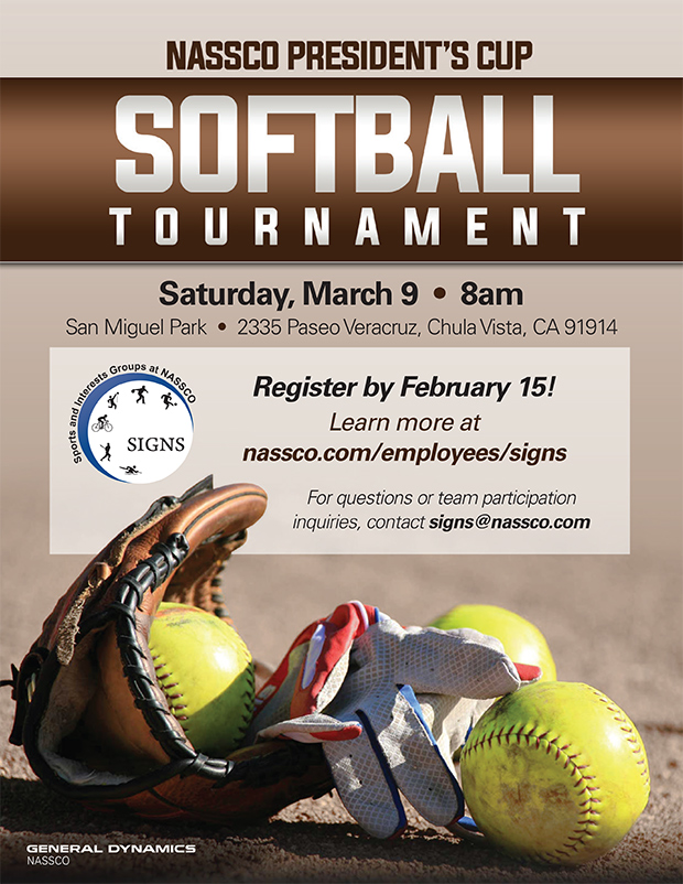 NASSCO President's Cup Softball Tournament @ San Miguel Park