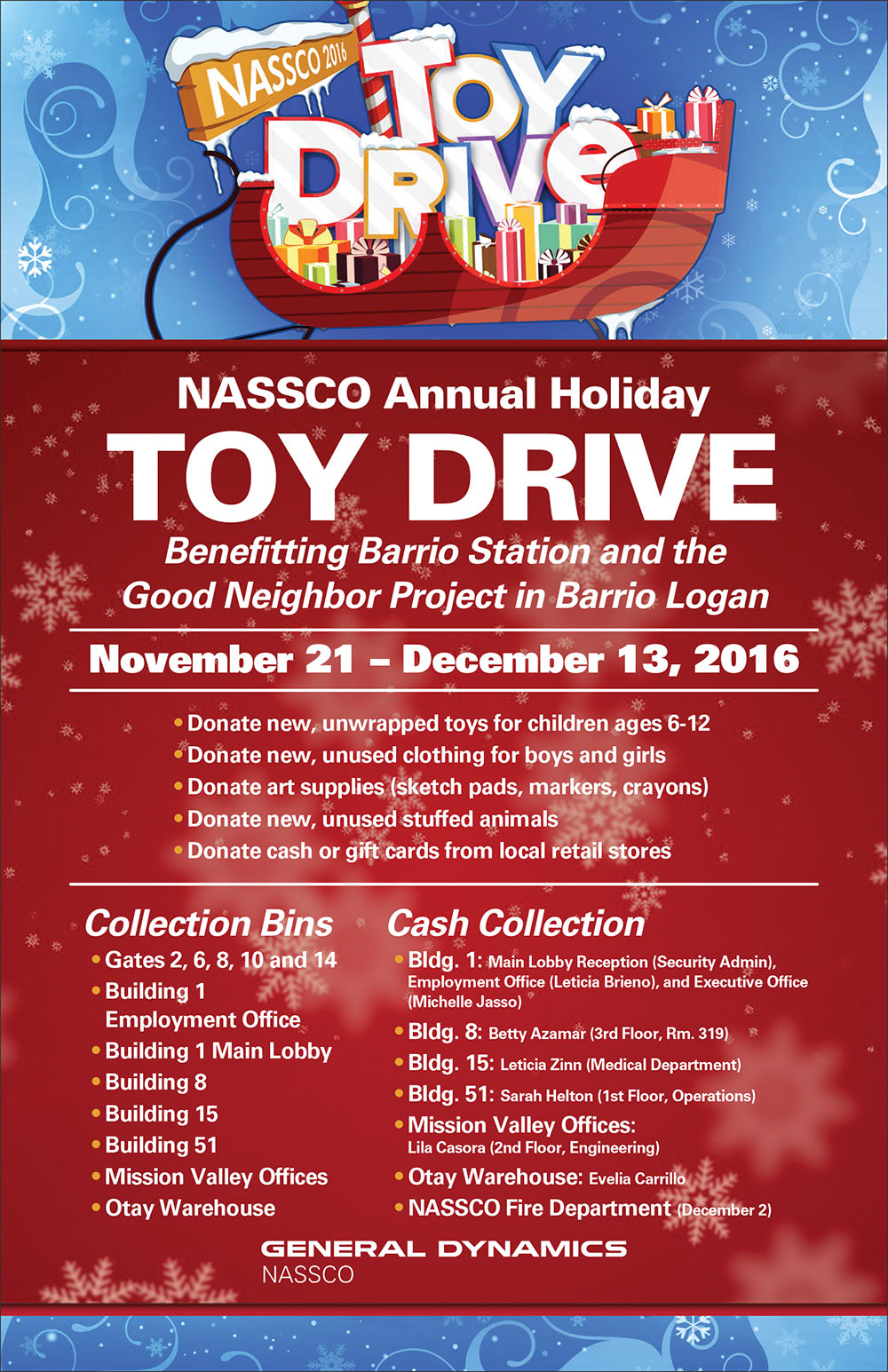 annual nassco holiday toy drive