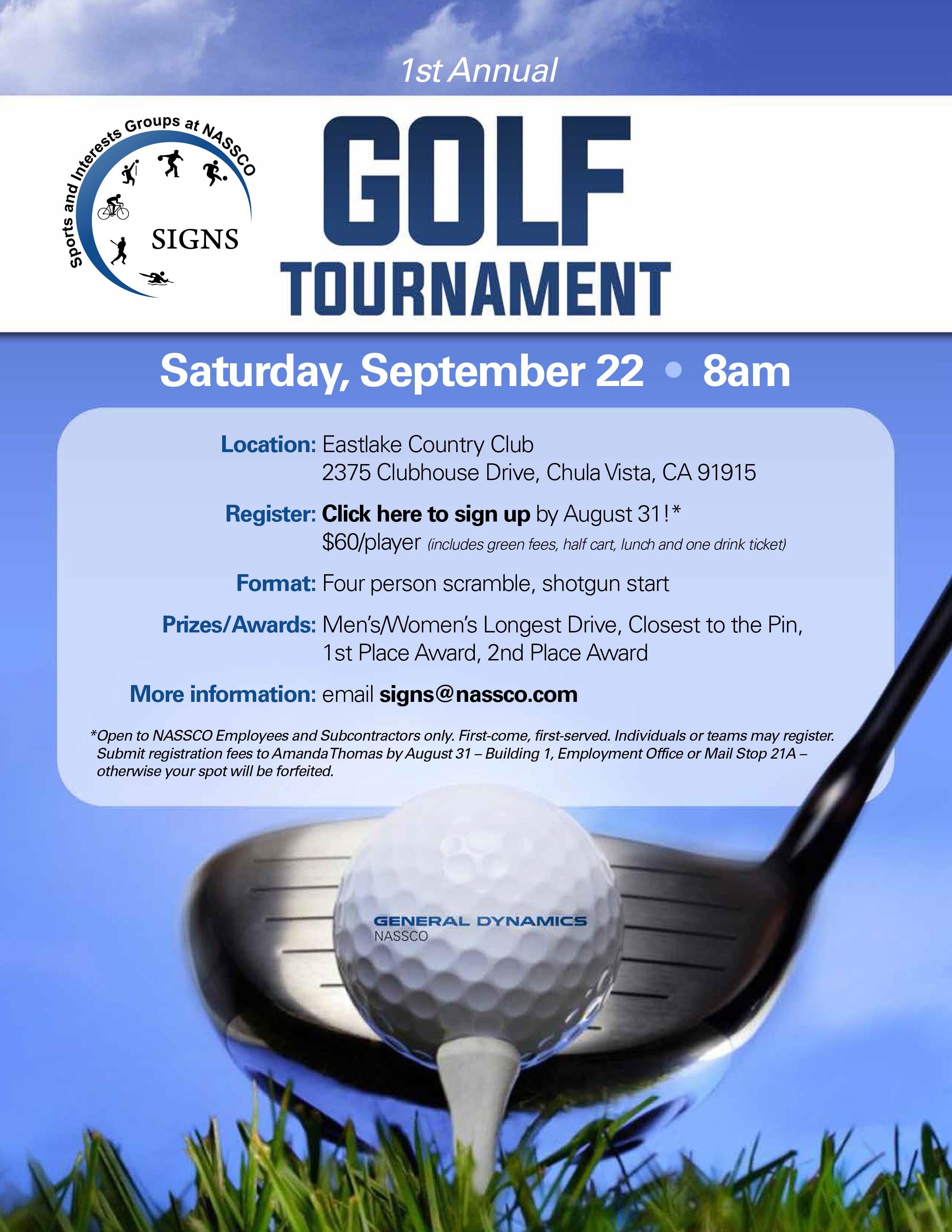 Golf tournament prizes longest drive