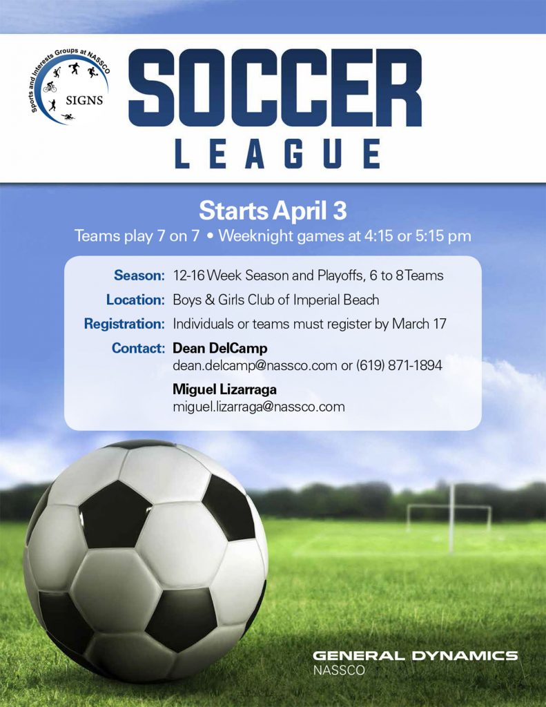 SIGNs Soccer League Begins April 3 @ Boys & Girls Club of Imperial Beach | Imperial Beach | California | United States