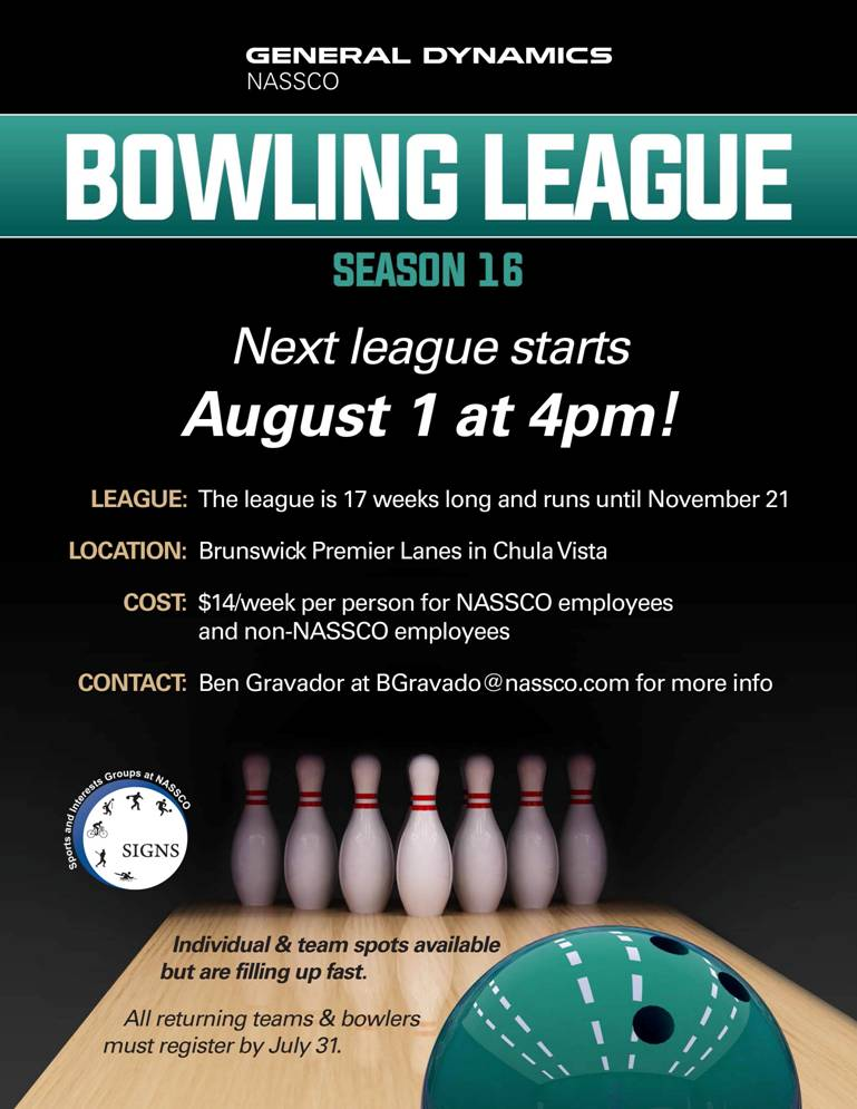 NASSCO Bowling League - Season 16