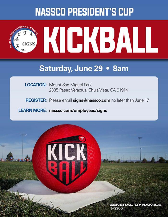 NASSCO President's Cup Kickball Tournament @ Mount San Miguel Park